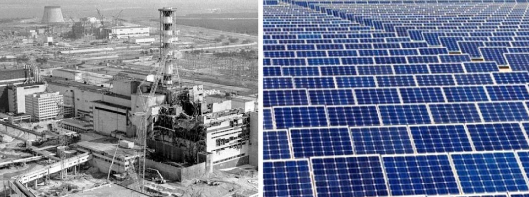 Chérnobil en una planta de energía solar